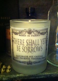 ThereShall Yet Be Sorrows Candle at Black Phoenix Trading Post