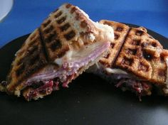 Waffle Iron Reuben Sandwich - Emeril Lagasse (1) From: Food, please visit