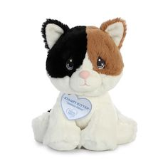 The Precious Moments Stampy Kitten Stuffed Animal by Aurora is a soft & cuddly baby safe plush calico kitten with an inspirational message & lots of love to give! Dog Room Decor, Stuffed Animal Cat, Stuffed Animals, Christmas Teddy Bear, Dog Rooms, Raining Cats And Dogs, Plush Animals, Precious Moments, Cute Kids