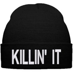 Beauty ForeverThe Killin It Beanie Swag Beanie Dope Beanie killinit ($20) ❤ liked on Polyvore featuring accessories, hats, acrylic hat, long beanie, beanie hats, long beanie hats and acrylic beanie hat