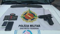Foto: PMDF/internet/reprodução.      Policiais militares do 26º Batalhão prenderam um homem suspe...