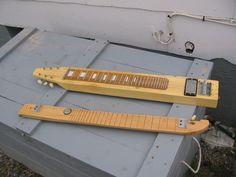 Building a Basic Lap Steel Guitar Metal Building Kits, Metal Building Homes, Guitar Building, Building Ideas, Metal Homes, Homemade Musical Instruments, Pedal Steel Guitar, Steel Sheds, Resonator Guitar
