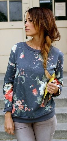 fall fashion flower print