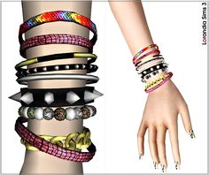 Multilayer bracelet by Lore at  Lorandia Sims 3 - photo big [to download]