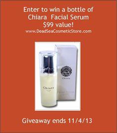 Enter to win a bottle of Chiara Facial Serum, a $99 value!  Ends 11/4