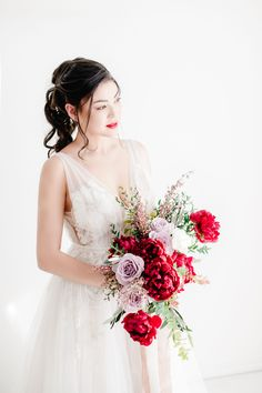 Peony perfection for a winter wedding