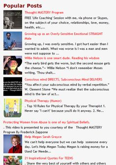 Popular posts on the INSPIRED LIVING BLOG. - http://encwor.blogspot.com/