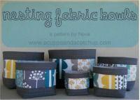 Nesting Fabric Bowls. $7.95