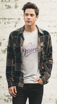 "This ""Give More"" tee looks great under a casual flannel. Plus, it supports the National Autism Association! #Sevenly"