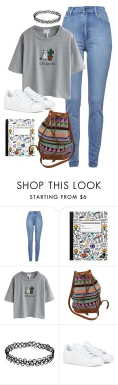 """Back to school Cross Gene inspired // Yongseok"" by berrie95 ❤ liked on Polyvore featuring Cheap Monday, Yoobi, WithChic, Retrò, adidas, BackToSchool, Crossgene, kpopoutfits and yongseok"
