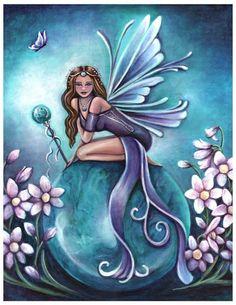 Turquoise (December) Birthstone Fairy by Jennifer Galasso