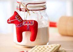 DIY Dala Horse. So cute for a hostess gift or family ornament.