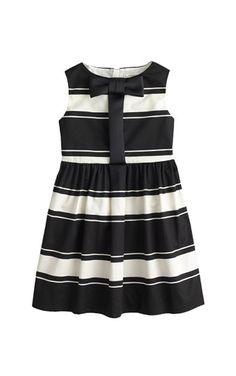 Girls' Stripe Bow Dress