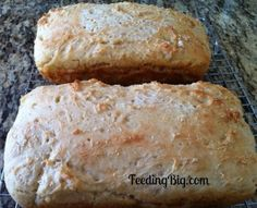 English Muffin Bread is a delight in the morning. So many little nooks and crannies for your butter and jam. This recipe is easy and requires no kneading.