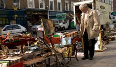 Golborne Road flea market is held every Saturday Kensington London, West London, Fleas, Britain, Tourism, Street View, Marketing, Image, Travel