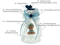 Baby Shower Favor #080. For more details, including color options and pricing, please visit our website www.lacrafts.com (Recuerdo para Baby Shower #080. Para más detalles, incluyendo opciones de color y los precios, por favor visite nuestro sitio web www.lacrafts.com)