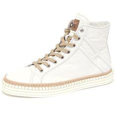 HOGAN REBEL Sneaker TG. D 40 GRIGIO SCARPE DONNA SHOES High Top Scarpe Da Ginnastica Flats