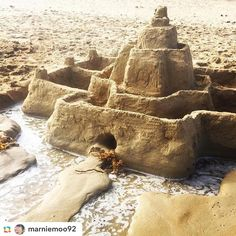 Sandcastle engineering in #anglesea!  Great shot @marniemoo92 and thank you for entering our Summer Photo Competition  #workinprogress #greatoceanroad #gor #summer #beach #holidays #holidayaccommodation #victoria #weekend #fun by greatoceanroadholidays