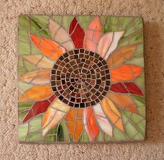 Mosaic Sunflower - Ladybug Stained Glass