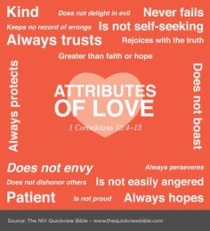 The Quick View Bible » Attributes of Love