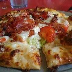 BLT Pizza - double sauce portion of recipe to go with my homemade dough!