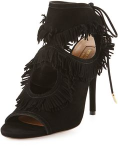 Why we love it: You don't have to be at a festival to don a pair of überfun fringed shoes this season. From sexy heels to casual sandals, this playful look works for every occasion — and with any outfit. Start experimenting now, and you'll find this style may just become your Spring go-to. Aquazzura Sexy Fringe Suede Tie-Back Sandals ($695)