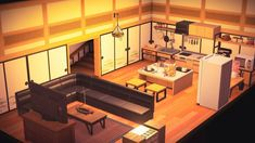 My Best Shot At A Kitchen With Tv Room Combo Animalcrossing Animal Crossing Animal Crossing Game New Animal Crossing