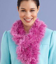 Fun Fur Soft Furry Scarf : Knitting Projects :  Shop | Joann.com