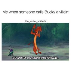 BUCKY ISN'T A VILLAIN. DISHONOR ON YOUR FAMILY! - Visit to grab an amazing super hero shirt now on sale!