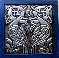 Celtic Bird - Arte produzida em alumínio.