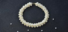Free Beading Pattern for a Fashion White Pearl Bead Necklace