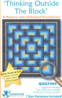 thinking outside the block quilt pattern | Miscellaneous Quilt Patterns II- Erica's Craft & Sewing Center