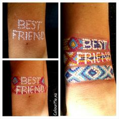 "day20- ""besties""  #friendshipband Facepainting by www.colourme.nz"