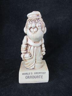 Vintage Paula Figurine W188 'Worlds Greatest Graduate' 1971
