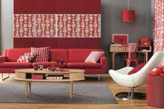 Decoración de Salas en Color Rojo - Para Más Información Ingresa en: http://fotosdedecoraciondesalas.com/decoracion-de-salas-en-color-rojo/