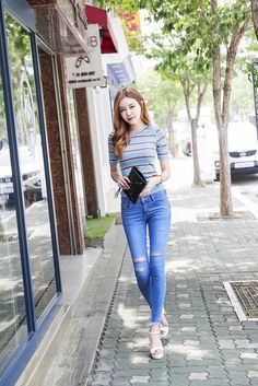 044a2402e54 Vintage frayed denim pants PTJ-ST. Denim PantsKorean FashionHipsterFabricJeans  StyleWomens FashionVintageClothesMinimal