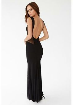 Hourglass Illusion Low Back Maxi Dress from Body Central
