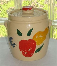 Vintage Stoneware Cookie Jar  	$40.00