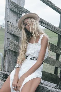 Perfect white on white summer Spell outfit