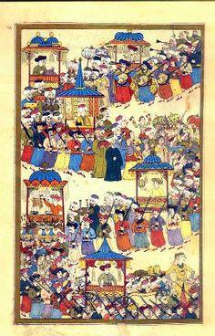 Middle Eastern Clothing, Turkish Art, Central Asia, Islamic Art, Westerns, Bohemian Rug, Vintage World Maps, Ottoman, Miniatures