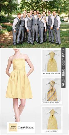 yellow wedding party ideas   CHECK OUT MORE IDEAS AT WEDDINGPINS.NET   #bridesmaids