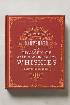 "the curious bartender ""odyssey of whiskies"" book - great gift for guys! #anthrofave"
