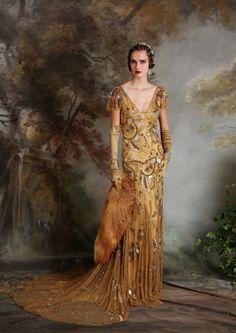 ~ Living a Beautiful Life ~ Eliza Jane Howell - Elegant Art Deco Inspired Wedding Dresses Vintage Outfits, Vintage Gowns, Vintage Mode, Vintage Art, Art Deco Wedding Dress, Colored Wedding Dress, Wedding Dresses, Art Deco Dress, 20s Fashion