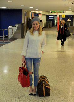travel outfit by Brooklyn Blonde. Cute Travel Outfits, Travel Outfit Summer, New Outfits, Chic Outfits, Fall Outfits, Airport Chic, Airport Style, Spring Summer Fashion, Autumn Winter Fashion