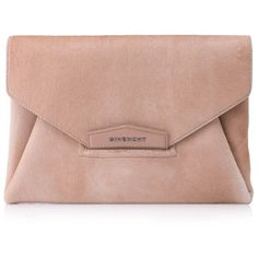Pre-owned Givenchy Antigona Clutch ($590) ❤ liked on Polyvore featuring bags, handbags, clutches, pink, beige clutches, preowned handbags, beige handbags, givenchy handbags and pink handbags