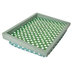 welland cushion padded lap top breakfast tray colorful dots w handles