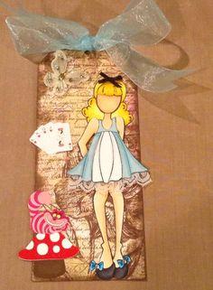 Alice in Wonderland doll tag