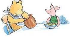 Pooh and Piglet were sitting together over breakfast at that pleasant time of the day when you know that there is much to be done but not quite yet.