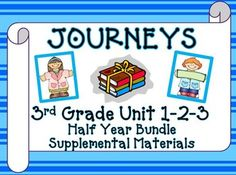 Journeys 3rd Grade - This bundle contains a variety of activities for each lesson in Units 1, 2, and 3 from the third grade Journeys Book 3.1. These activities are designed to teach, re-teach, practice, or assess the lessons taught in these units. $