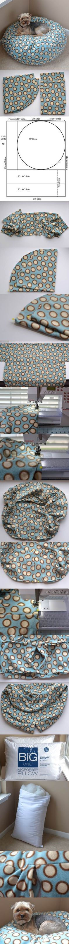 DIY Fleece Dog Bed 2